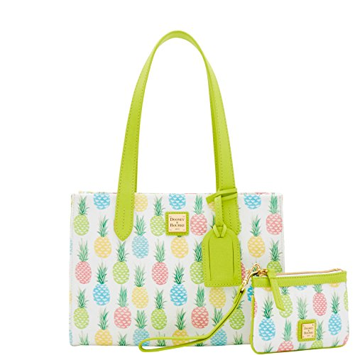 Dooney & Bourke Tiki Pineapple Sm Shopper w/ wristlet 2 pc set