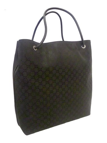 Gucci Gifford Black Nylon Borsa Large Tote Bag