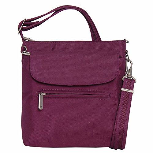Travelon Anti-Theft Classic Mini Shoulder Bag (One Size, PLUM)