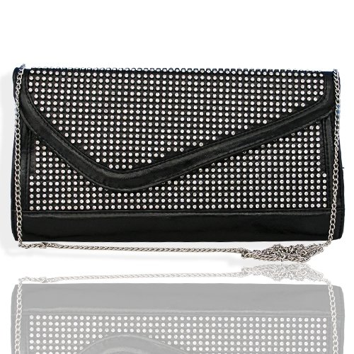 HOT!!! DESIGNER BLING Rhinestone & Crystal Studded Clutch/Case/Evening Bag by Jersey Bling