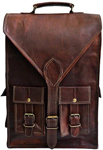 Jaald convertible leather 15.6″ laptop bag backpack messenger bag satchel briefcase
