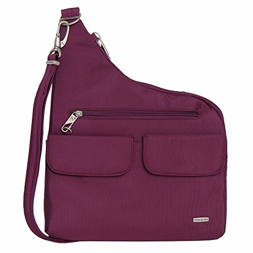 Travelon Anti-Theft Cross-Body Bag (One Size, PLUM)
