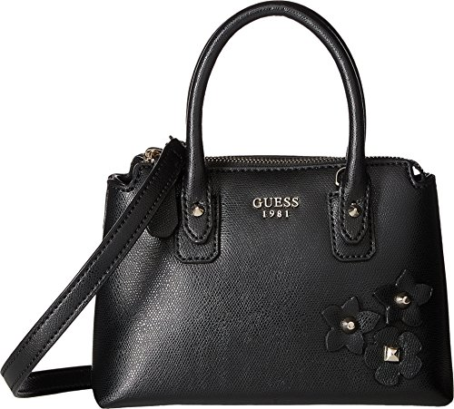 GUESS Women's Liya Petite Satchel Black Handbag