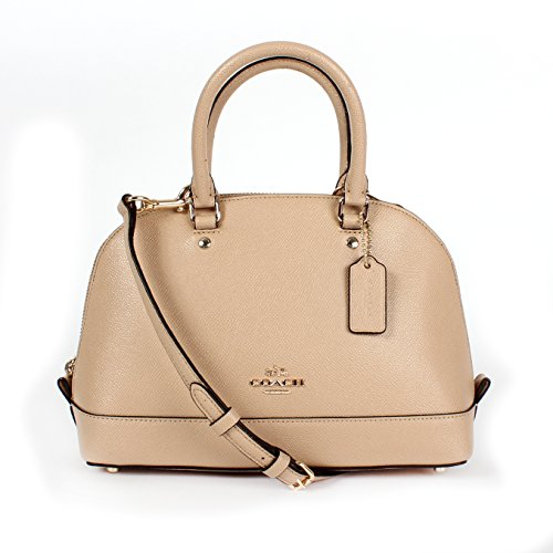COACH MINI SIERRA SATCHEL IN CROSSGRAIN LEATHER F57555 BEECHWOOD