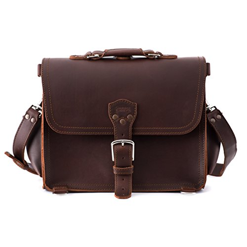 Saddleback Leather Handmade Full Grain Leather Large Satchel in Chestnut, 100 Year Warranty