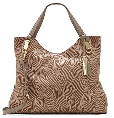 Vince Camuto Riley Hobo Nude Pebble Texture Leather Handbag