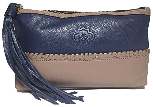 orYANY Alea Pebble Leather Pouch, Navy Multi