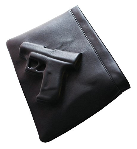ilishop Women's Cool Handbag Novelty Embossed Clutch Envelope Shoulder Bag (Black-1)