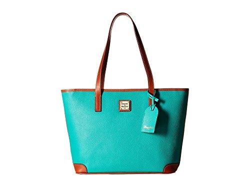 Dooney Bourke Charleston Shopper Spearmint/Tan Trim Tote Handbags