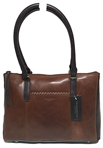 Tignanello Classic Whipstitch Shopper, Rust/Dark Brown, T56605A