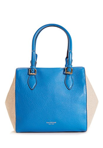 Charlene Satchel in Sky Blue and Linen