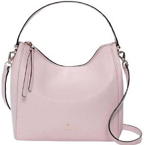 Kate Spade Charles Small Haven Hobo Crossbody Leather Bag Purse Pout Pink