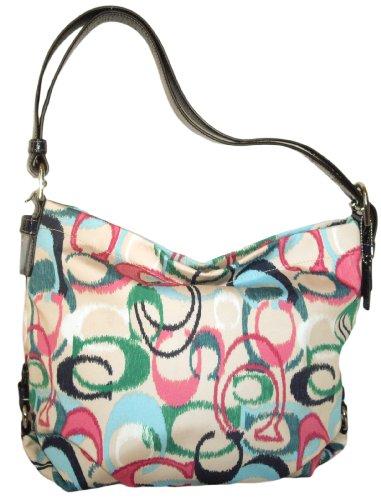 designer coach diaper bags x4zp  Coach 24941 Ikat Print Duffle Handbag Multicolor