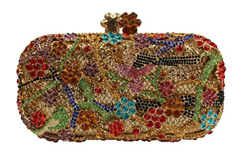 YILONGSHENG Women Rhinestone Evening Handbags EB1062 Multicolor