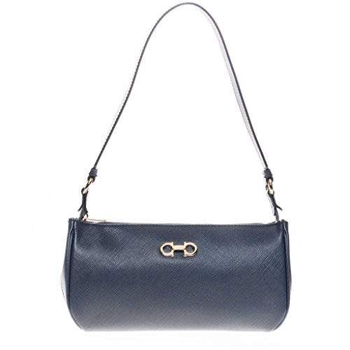 Salvatore Ferragamo Women's Icona Lisetta Shoulder Bag Navy