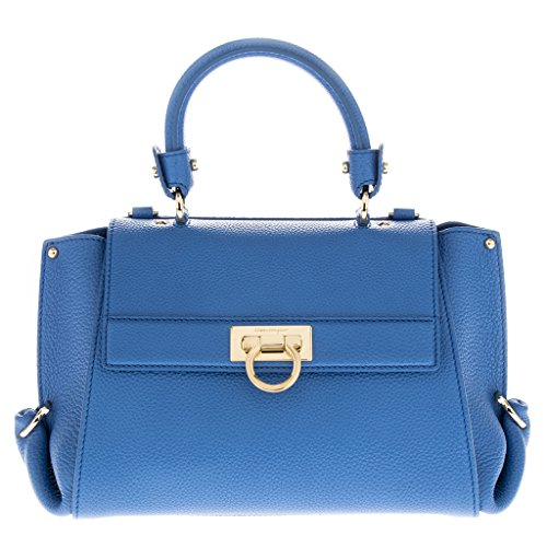 Salvatore Ferragamo Women's Small 'Sofia' Smooth Tote Blue