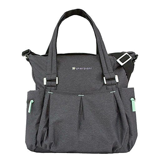 Sherpani Wisdom Fitness Crossbody Yoga Tote Gym Bag, Charcoal Heather , One Size