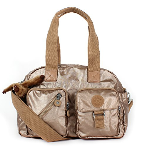 Kipling Womens Defea Handbag, Golden Rod Metallic, One Size