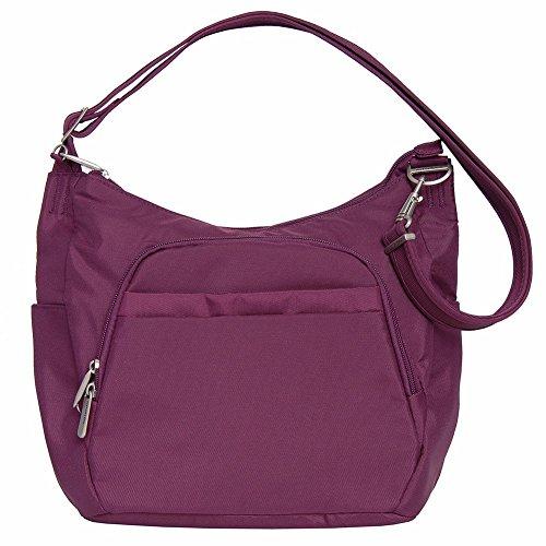 Travelon Anti-Theft Classic Crossbody Bucket Bag (One Size, PLUM)