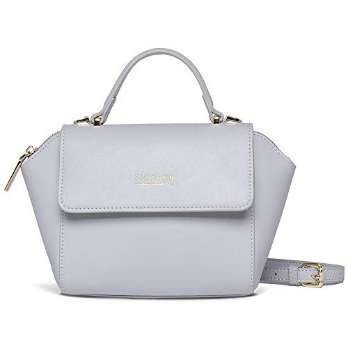 FIGESTIN Women Leather Top-Handle Handbags Satchel Shell Shoulder Tote Purse Bag