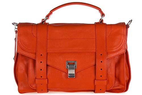 Proenza Schouler women's leather handbag shopping bag purse medium lux orangene