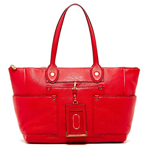 Marc by Marc Jacobs East to West Leather Large Tote Bag – Rosey Red