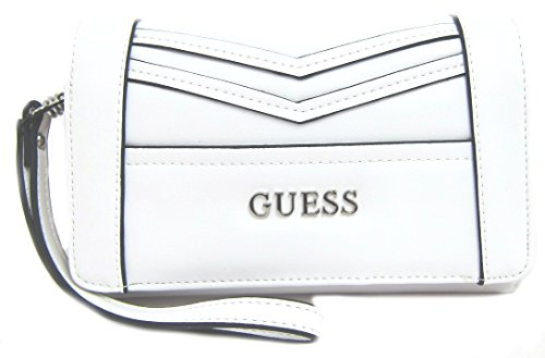 GUESS Delaney Women's Clutch Wristlet Wallet, White