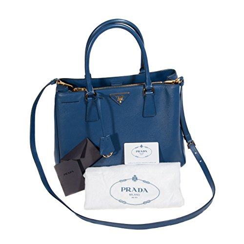 Prada Blue Leather Tote