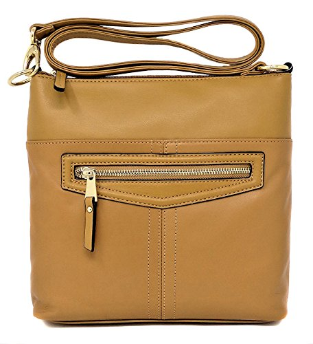 Tignanello Pretty Pockets Large Cross Body, Cognac, T68215A