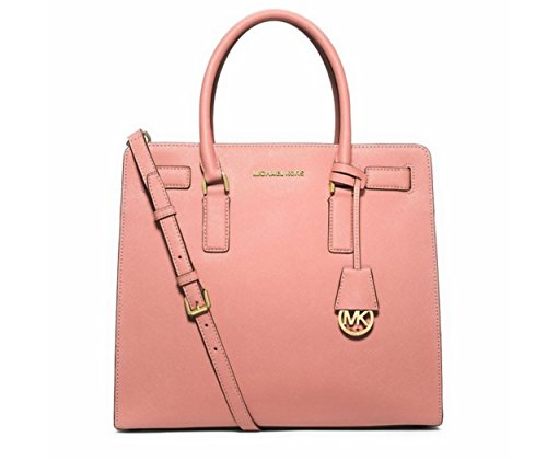 MICHAEL MICHAEL KORS Dillon Large Saffiano Leather Satchel (Pale Pink)