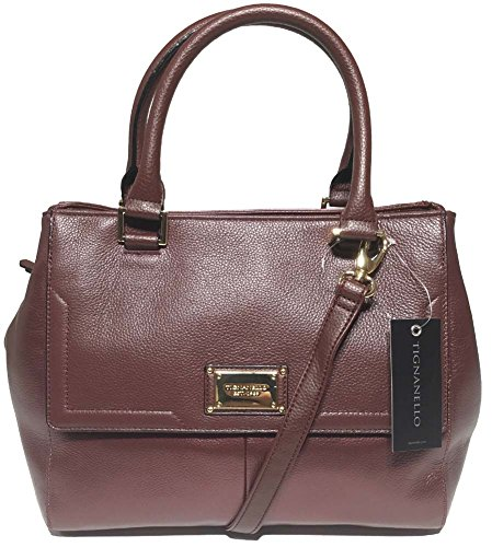 Tignanello Gracious Style Triple Entry Satchel, Raisin, 68632892