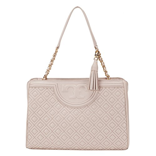 Tory Burch Fleming Open Shoulder Bag 34359-042 Bedrock