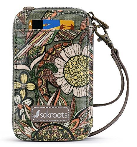 Sakroots Artist Circle Smartphone Wristlet (One Size, Olive Spirit Desert)