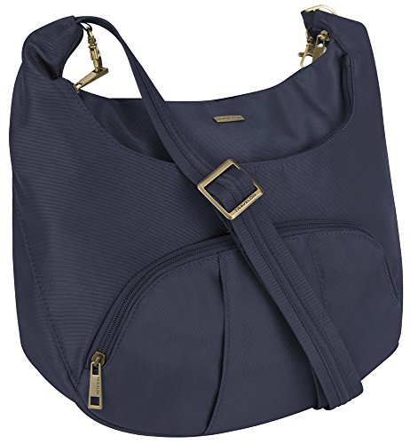 Travelon Anti-Theft Round Hobo with RFID Wristlet – Midnight Blue