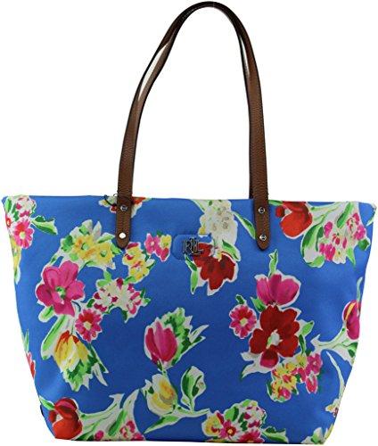 LAUREN Ralph Lauren Women's Bainbridge Tote Blue Floral none none
