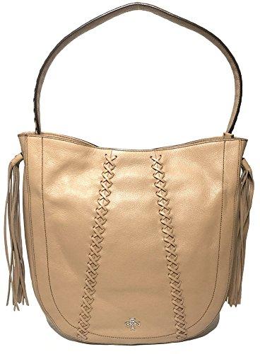 orYANY Chelsea Hobo Bag W/Fringe, Nude