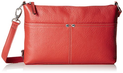 Tignanello Pebble Leather Heritage Crossbody Bag with Rfid, Brick