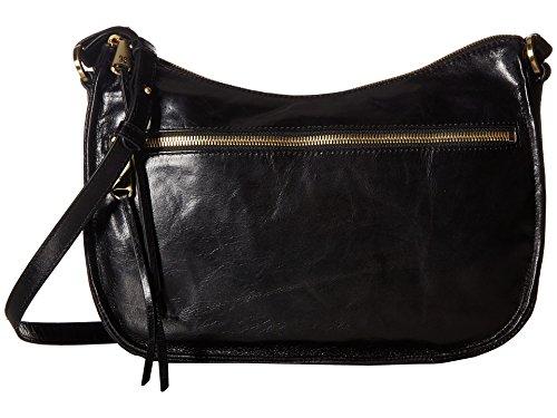 Hobo Handbags Vintage Leather Karder Crossbody – Black
