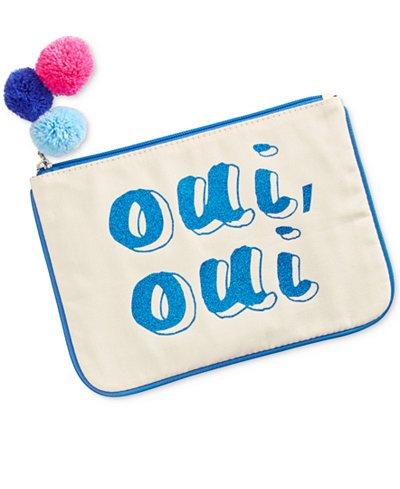 Madden Girl Canvas Pouch Cosmetics Bag Organizer – Oui, Oui