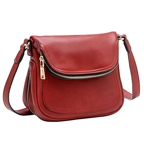 Tosca Expandable Cross-body Handbag – Red