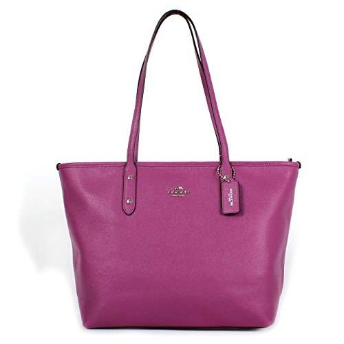 Coach Crossgrain Leather City Zip Tote F57522 Hycinth