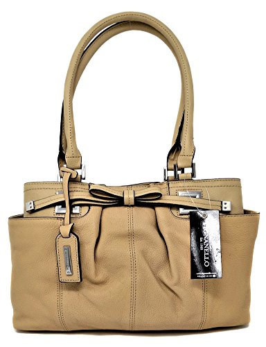Tignanello All Dressed Up Satchel, Creme Brulee, A255206