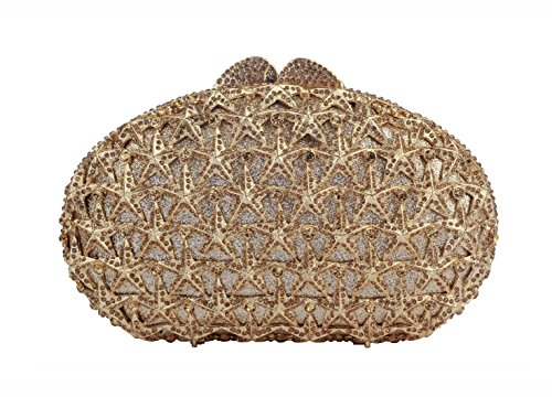 Yilongsheng Women's Scattering Star Rhinestone Party Handbags – Golden