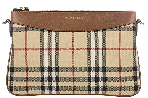 Burberry women's clutch with shoulder strap handbag bag purse peyton beige