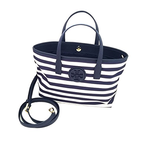 Tory Burch Small Striped East-West Tote