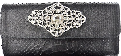 Genuine Python Leather Evening Handbag/Clutch