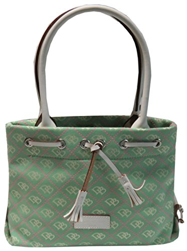 Dooney & Bourke Purse Handbag Exclusive Mini Tassel Tote Green/Pink