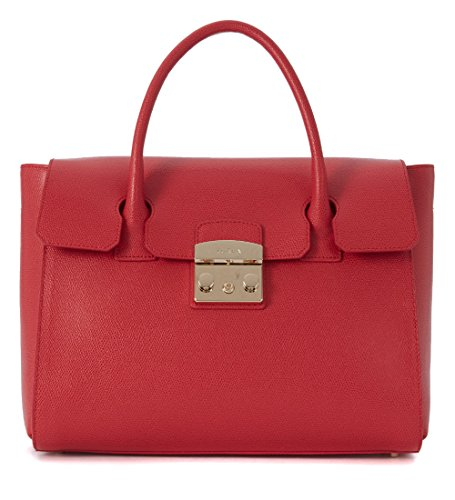 Furla Women's Borsa A Mano Furla Metropolis Medium In Pelle Rubino Red