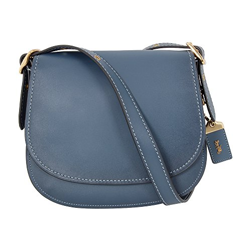 Coach Dark Denim Small Leather Ladies Saddle Handbag 55036OLL6I