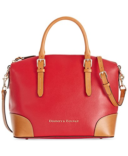 NEW AUTHENTIC DOONEY & BOURKE LEATHER ZIP CONVERTIBLE SHOULDER SATCHEL (Red) $298